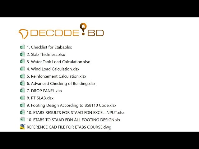 GET THE IMPORTANT EXCELS YOU NEED FROM DECODE BD