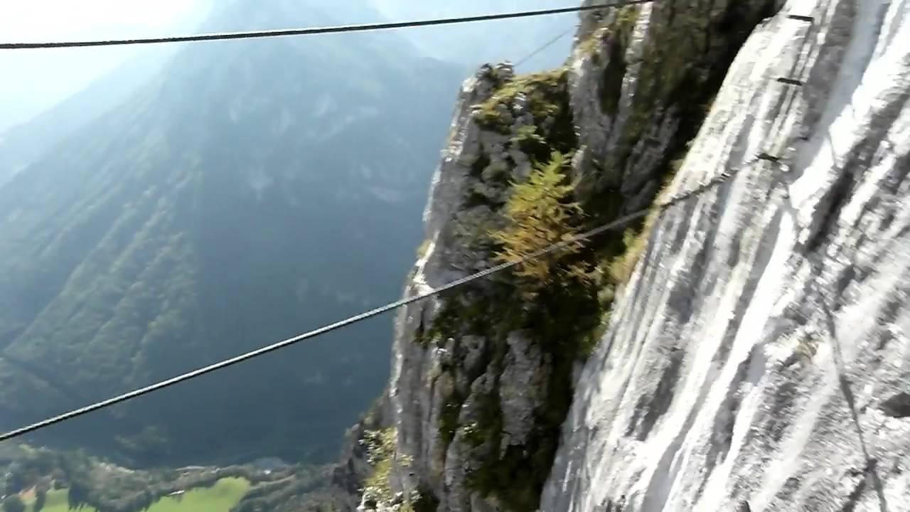 Klettersteig Leopoldsteinersee : Am kaiser franz joseph klettersteig seemauer leopoldsteinersee