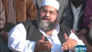 Mulana Tahir Ashrafi talks with media