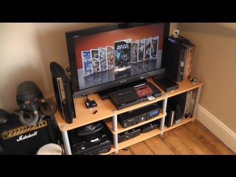 My 2011 Gaming Corner/Set-Up Room Tour - Retro and Modern Gaming
