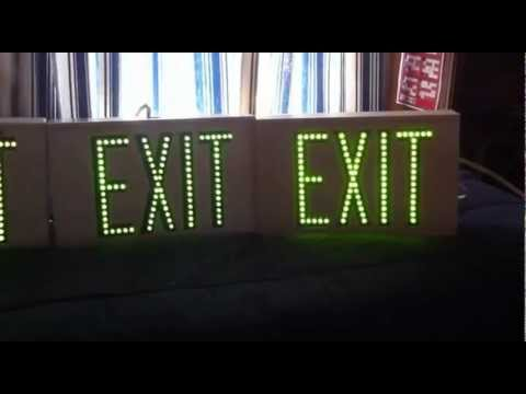 exit signs led1emgww directview led exit signs youtube