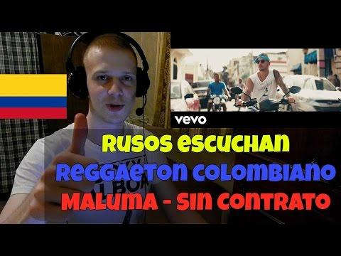RUSSIANS REACT TO COLOMBIAN REGGAETON | MALUMA - SIN CONTRATO | Rusos Escuchan Reggaeton Colombiano