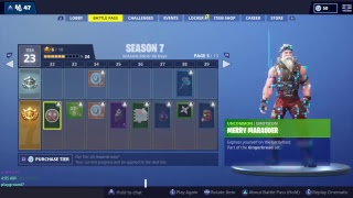 Fortnite Saison 7 Battle Pass MrAlanC Outlive 300 People Dance At 7 Forbidden Locations SGT. Winter