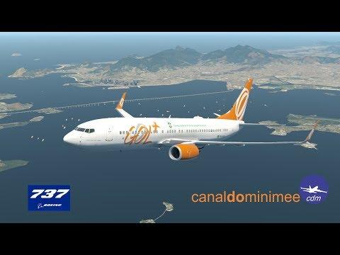 XPlane 11 Boeing 737 GOL Rio de Janeiro Brasilia L0082