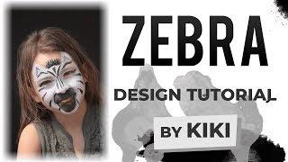 Zebra Face Painting Tutorial