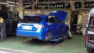 【実況車載動画】 インプレッサの冬支度 スタッドレスタイヤ(6シーズン目)に交換してきました SUBARU IMPREZA