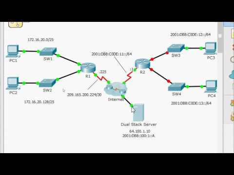 1.1.3.5 Packet Tracer - Configuring IPv4 And IPv6 Interfaces