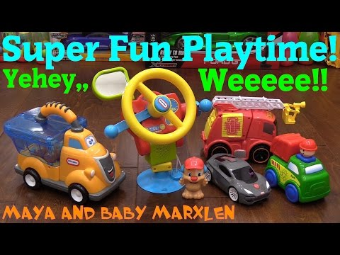 Toddler's Toy Cars and Trucks Unboxing and Playtime. Little Tikes, Fisher-Price and More!