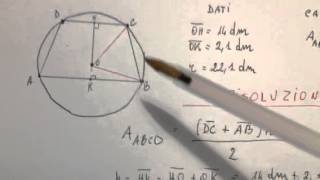 Problema con il cerchio e il trapezio per la terza media