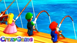 Mario Party The Top 100 - Pier Pressure w/ other Minigames Gameplay
