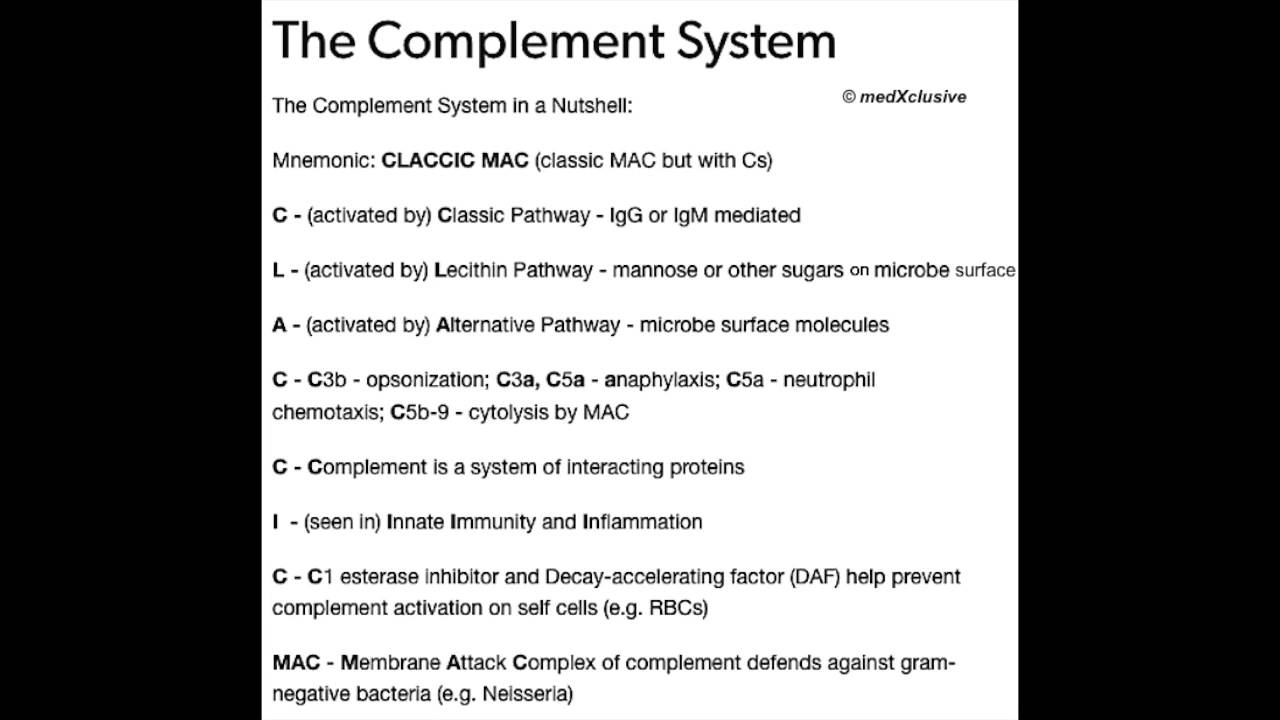 complement system  mnemonic