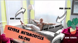 BARDZO SZYBKA METAMORFOZA SALONU! POZBYWAMY SIĘ STYLU BABCINEGO!