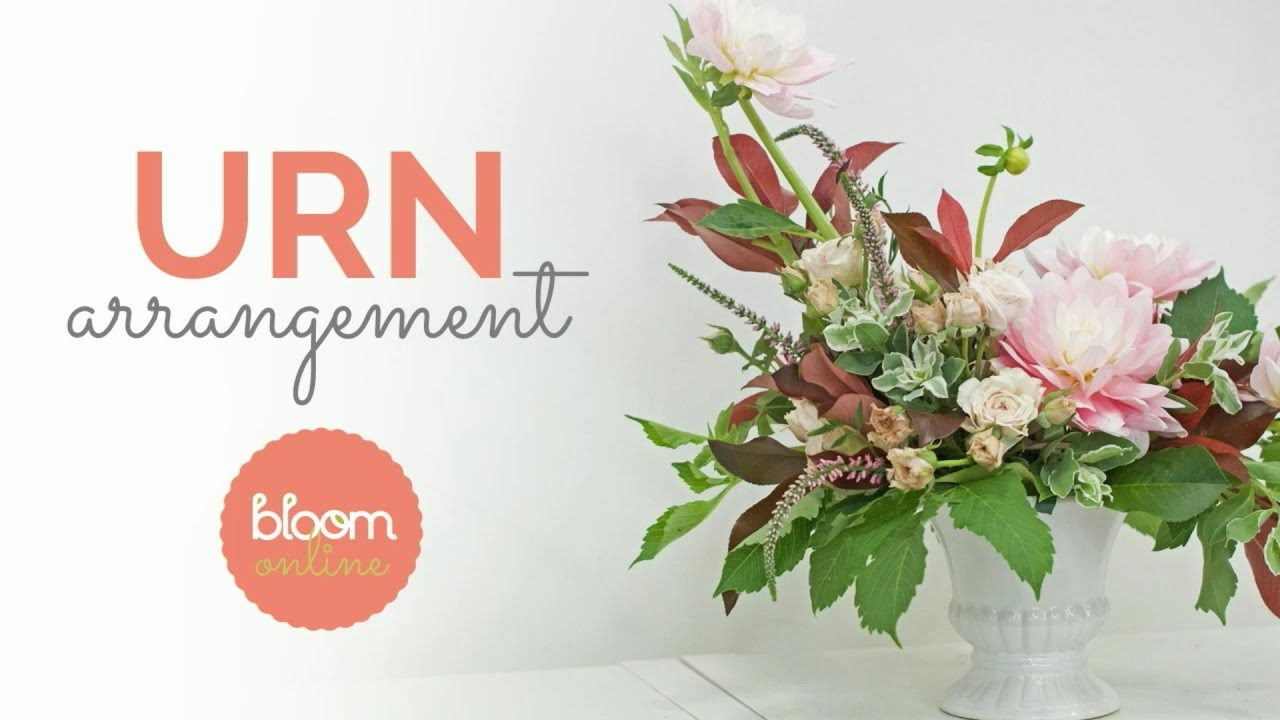 Urn Flower Arrangement Demo And Recipe Card Youtube