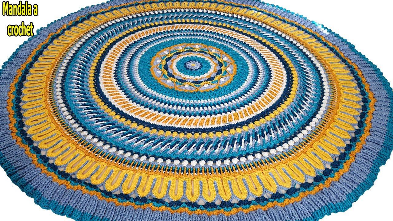 Descubre mandala a crochet  // mandala gigante tejido a ganchillo // paso a paso, facil // parte #7