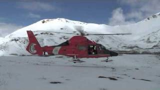 Coast Guard Air Station Kodiak H-65 Ski Sled Training
