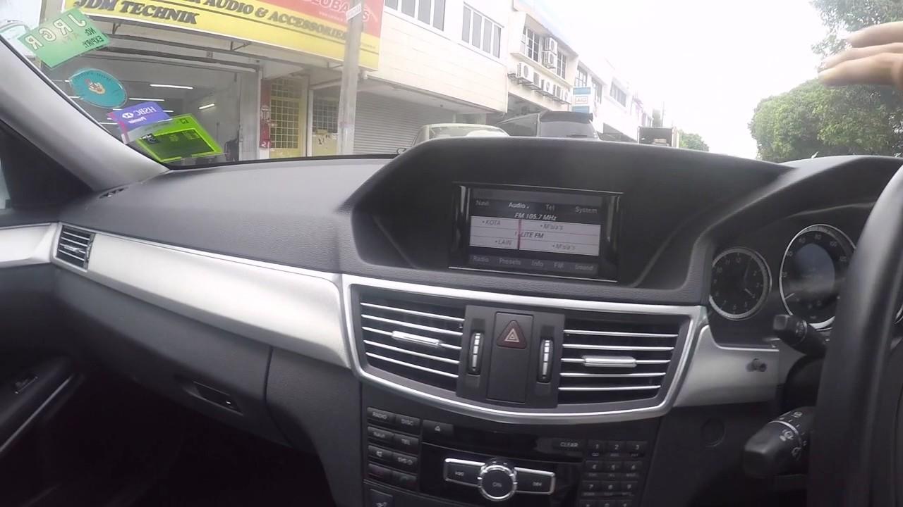 Mercedes Benz E200 W212 Aftermarket Reverse Camera