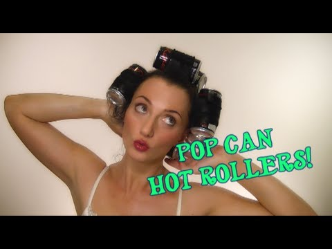 Curl your hair with POP CANS!  |  Delaney