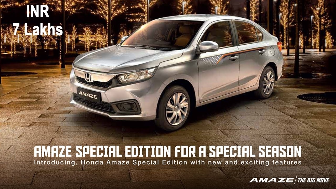 Honda Amaze 2020 Special Edition - Price, Features & Specs ...