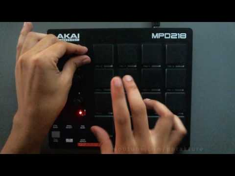 Akai MPD218 Session 1 - Live Hip Hop Finger Drumming