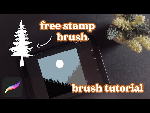 How to Make Stamp Brushes in Procreate + Free Brush