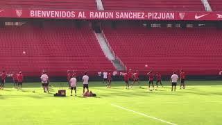 El Sevilla Sigue Preparando el Partido Frente al Zalgiris