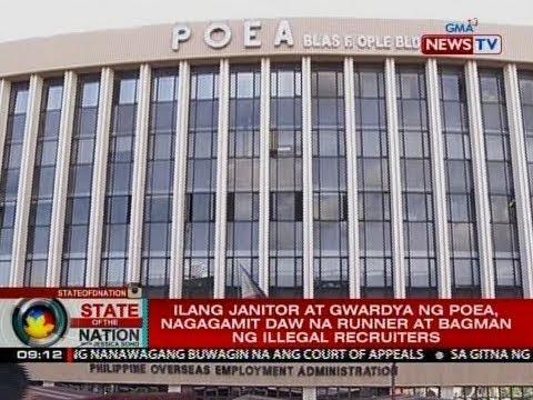 Dalawang opisyal ng POEA, sinibak sa gitna ng kampanya kontra illegal recruitment