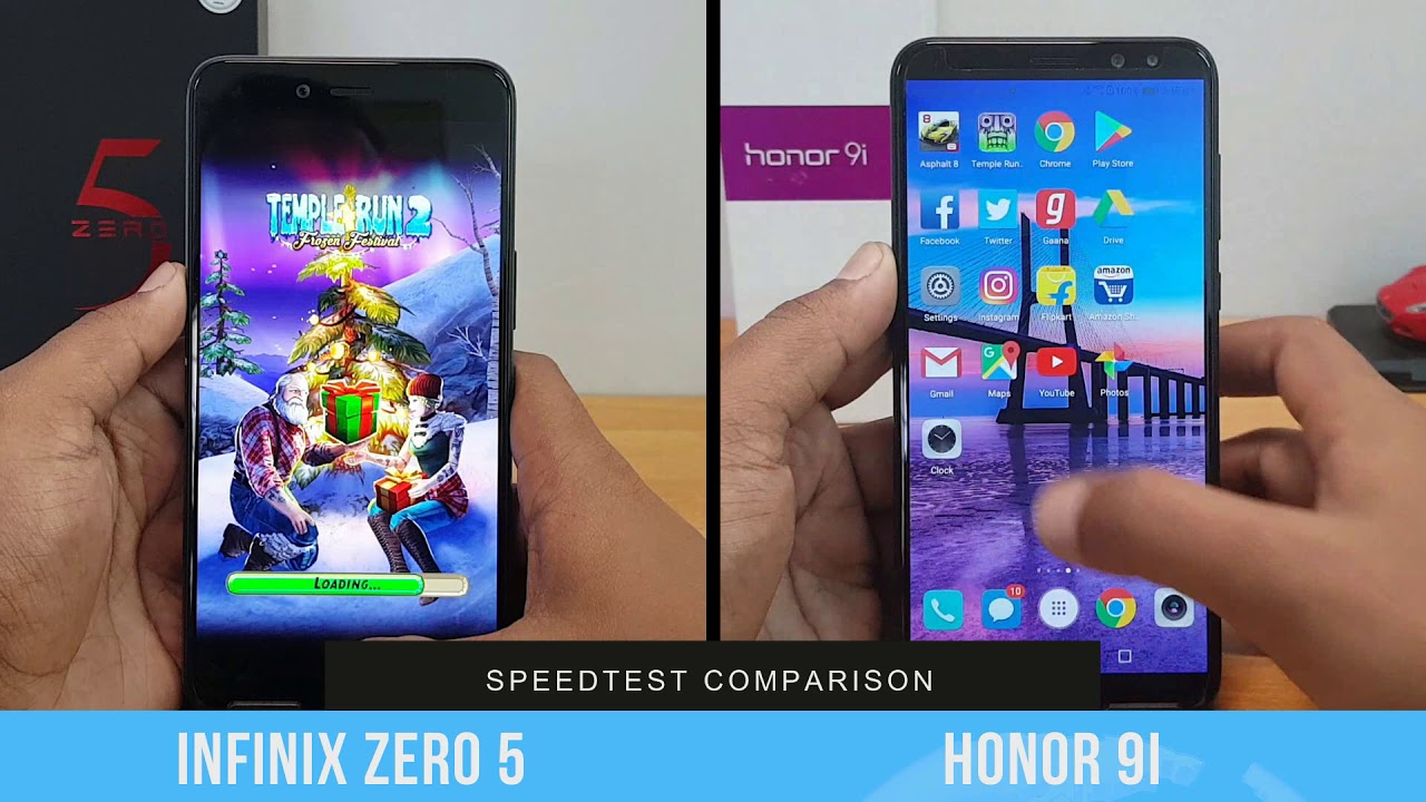 Infinix Zero 5 Vs Honor 9i Speedtest Comparison