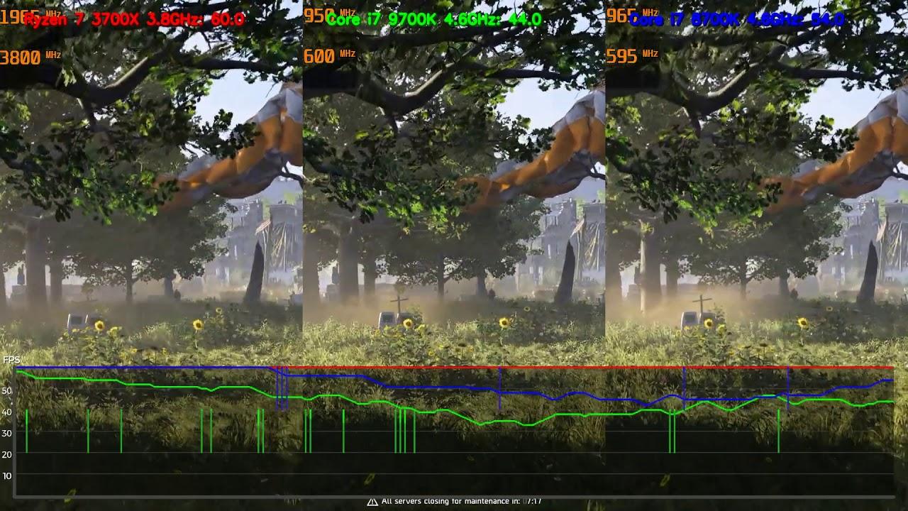 Ryzen 7 3700X / 3800Xのリアルタイム配信性能をCore i7 9700KやCore i7 8700Kと比較
