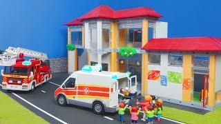 Playmobil en français pompier : accident à l'école  Playmobil | films pour enfants