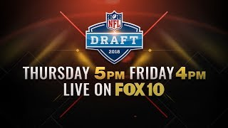 LIVE: NFL Draft Airing on FOX affiliates, podium streaming for comments