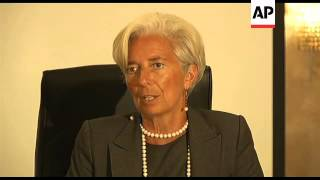 IMF chief meets SA finance minister