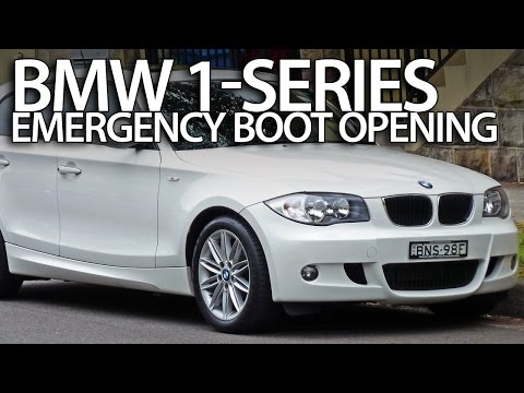 How to open BMW 1-Series boot without electric power (E81 E82 E87 E88 emergency trunk opening)