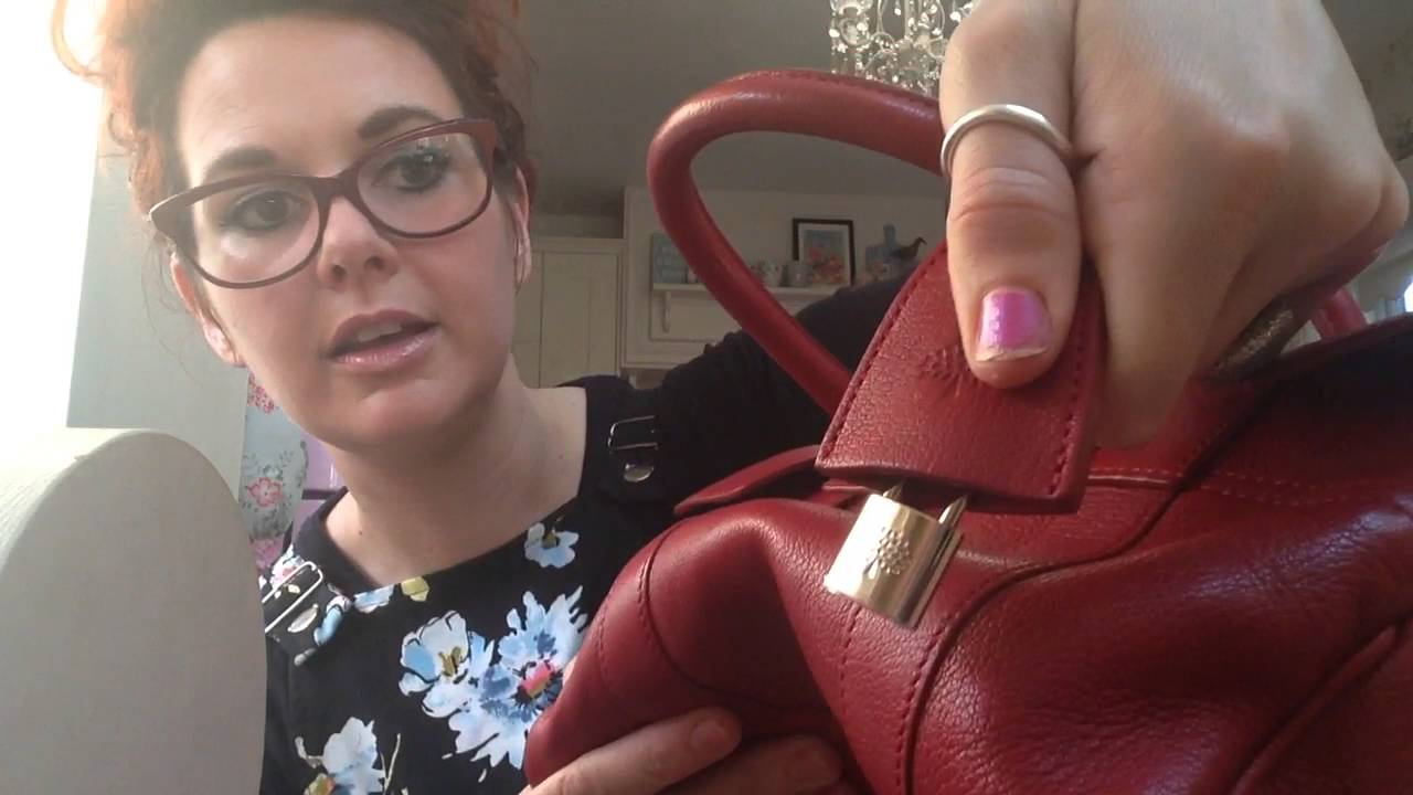 Review of mulberry Sbs small Bayswater satchel in poppy red   size against  alexa  ba6478127ee62
