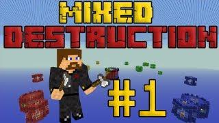 видео: Minecraft Mixed Destruction #1 - Четыре команды