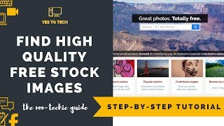 HOW TO FIND FREE STOCK PHOTOS FOR WEBSITES - The BEST Free Stock Photos Website