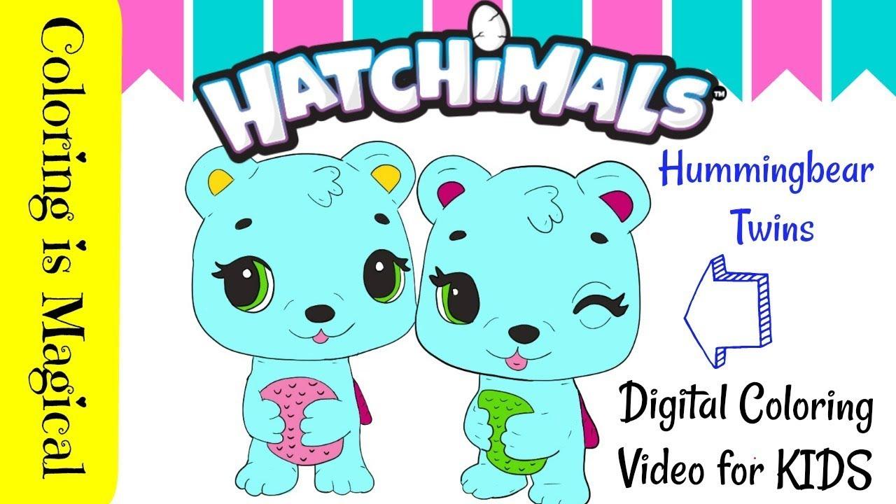 - Hummingbear Bear Twins Hatchimals Coloring Page Season 3 くま Chịu