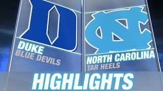 Duke vs North Carolina | 2014-15 ACC Men's Basketball Highlights
