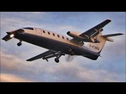 Piaggio P-180 Avanti Sunset Landing @ Corfu - AMAZING SOUND - CFU Evening Plane Spotting