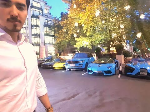 Prince of Kuwait's Supercar Line Up at Dorchester Hotel-London