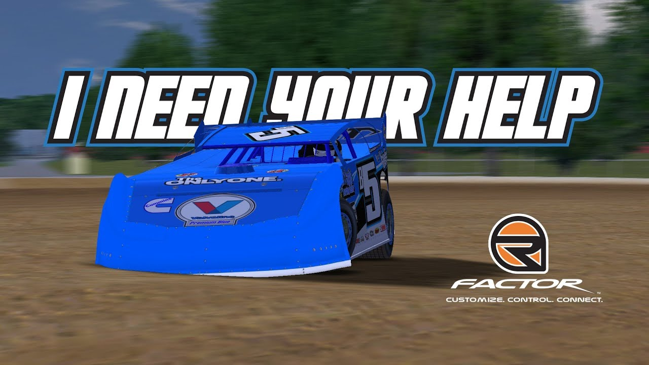 rFactor: I Need Your Help! (Late Model @ Bedford Speedway)