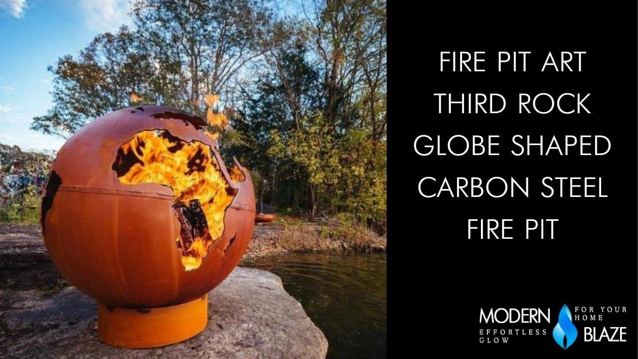 Fire Pit Art Third Rock - Globe Shaped 36