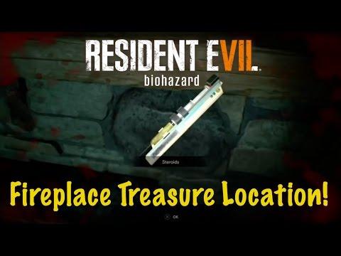 Fireplace Treasure Photo Location - Resident Evil 7 (RE7)
