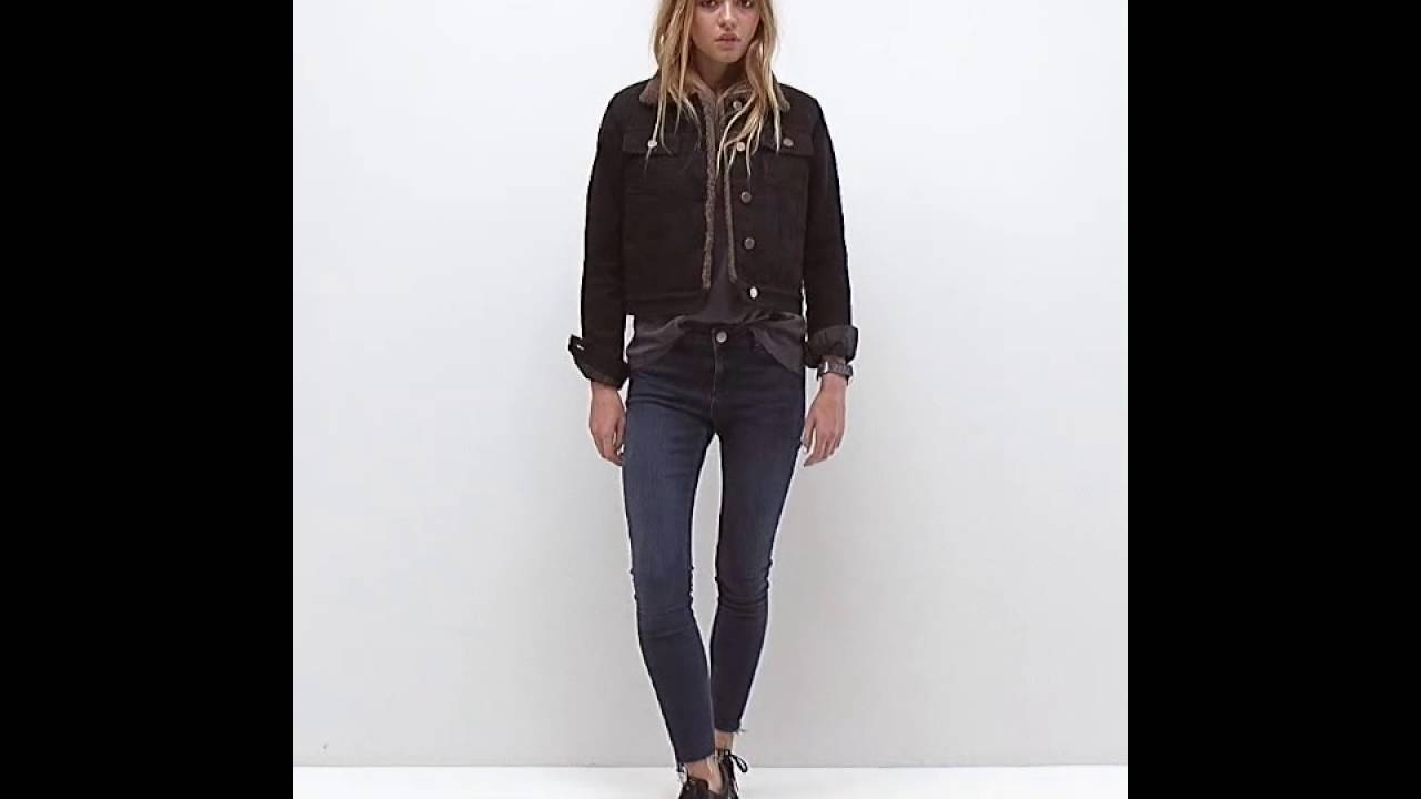ASOS Denim Cropped Jacket in Black with Borg - YouTube