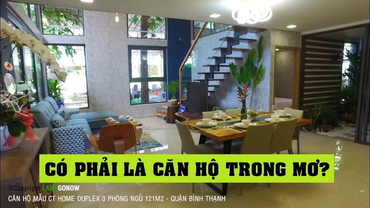 Căn hộ mẫu CT Home Duplex 121m2 3 phòng ngủ Bình Thạnh – Land Go Now ✔