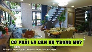 Căn hộ mẫu CT Home Duplex 121m2 3 phòng ngủ Bình Thạnh - Land Go Now ✔
