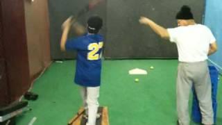 Pelham Parkway Little League indoor batting practice 1