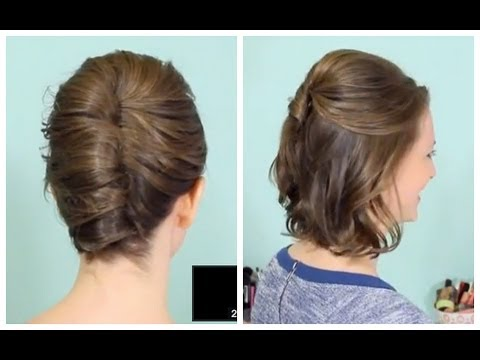 french-twist-&-half-updo-for-short-hair!