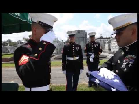 Military Funeral Honors Support For Marine Veterans
