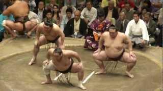 20120923 大相撲秋場所千秋楽 三役揃い踏み